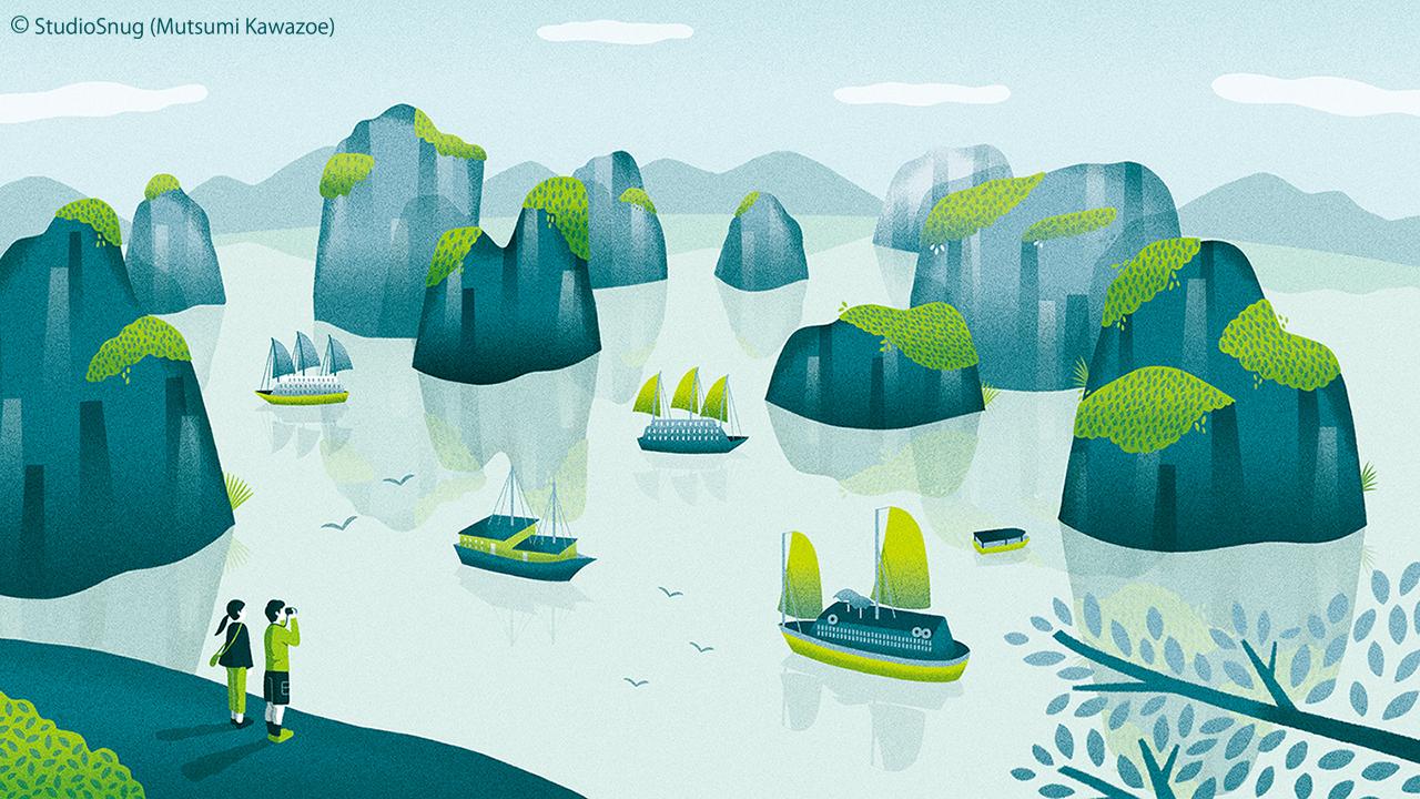 Fujitsu Mycloud 6月カレンダー Studiosnug Mutsumikawazoe Illustration